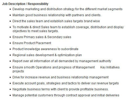 accounts manager job description ordnur textile and finance - Job Description For Merchandiser