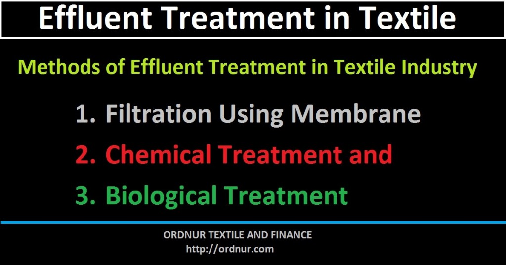 Effluent Treatment in Textile Industry