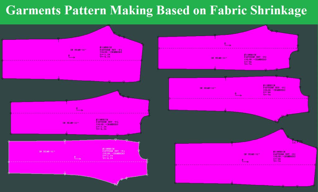 Garments Pattern Making Based on Fabric Shrinkage
