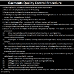 Garments Quality Control Procedure