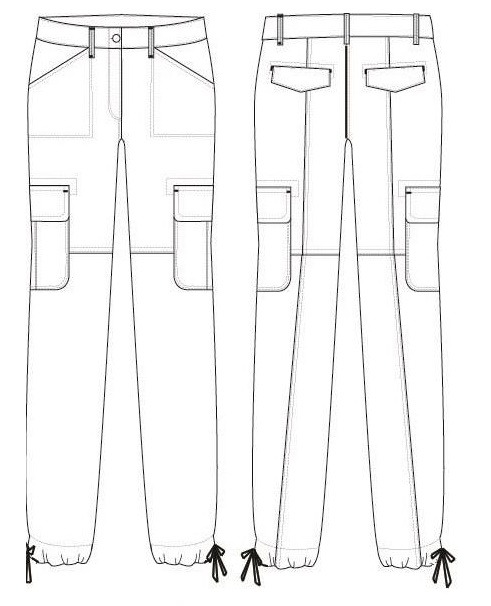 Operation breakdown and SMV of a Cargo crop pant