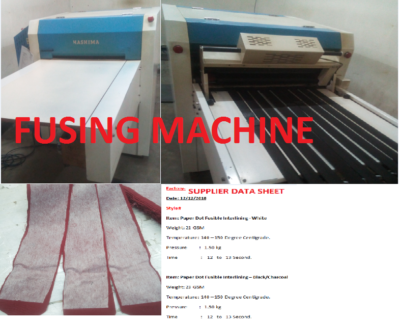 Fusing Process and Quality Inspection of Fusing Machine in Apparel