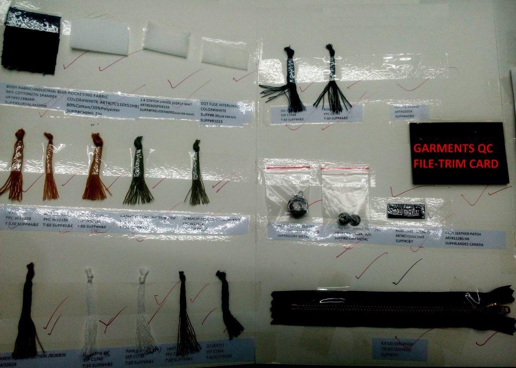 Garments QC File