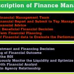 Job Description of Finance Manager